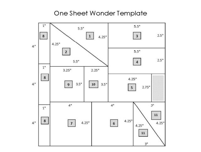 One Sheet Wonder Template - Make 11 Cards+